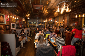 The dining room at the Park Slope location.