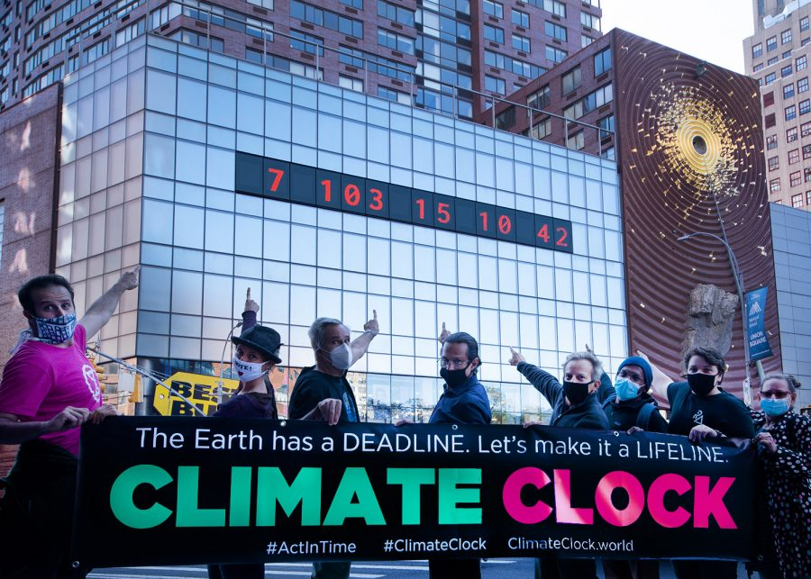 Tick Tock! A Climate Countdown – or Lifeline – in Union Square