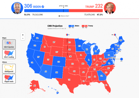 An electoral college map from CNN Politics.